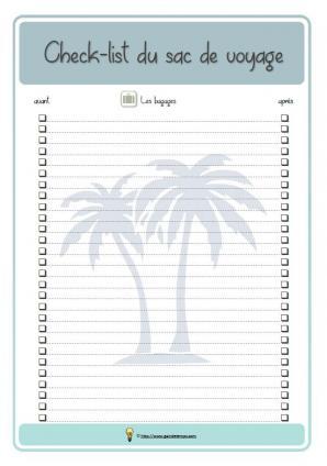 Check list vacances