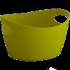 Panier en plastique jaune anis 3 potichelli