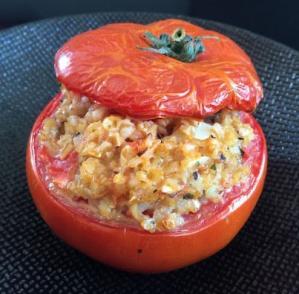 Tomate farcie au boulgour